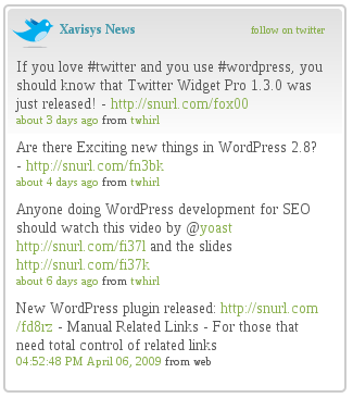 twitterwidget 10 Twitter Plugins That Will Increase Your Wordpress blog