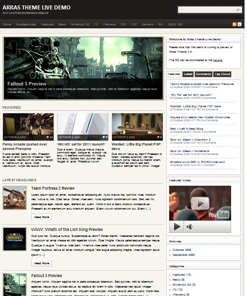 ArrasTheme 101 free premium wordpress themes