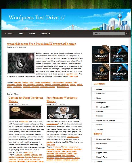 CityBlueSky 101 free premium wordpress themes