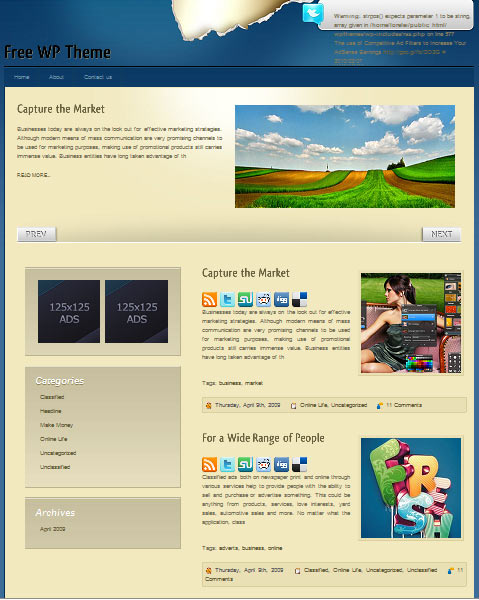 Extend 101 free premium wordpress themes