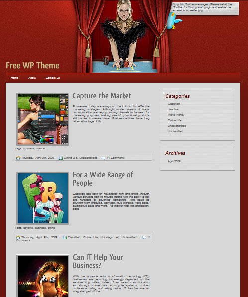Flavias 101 free premium wordpress themes