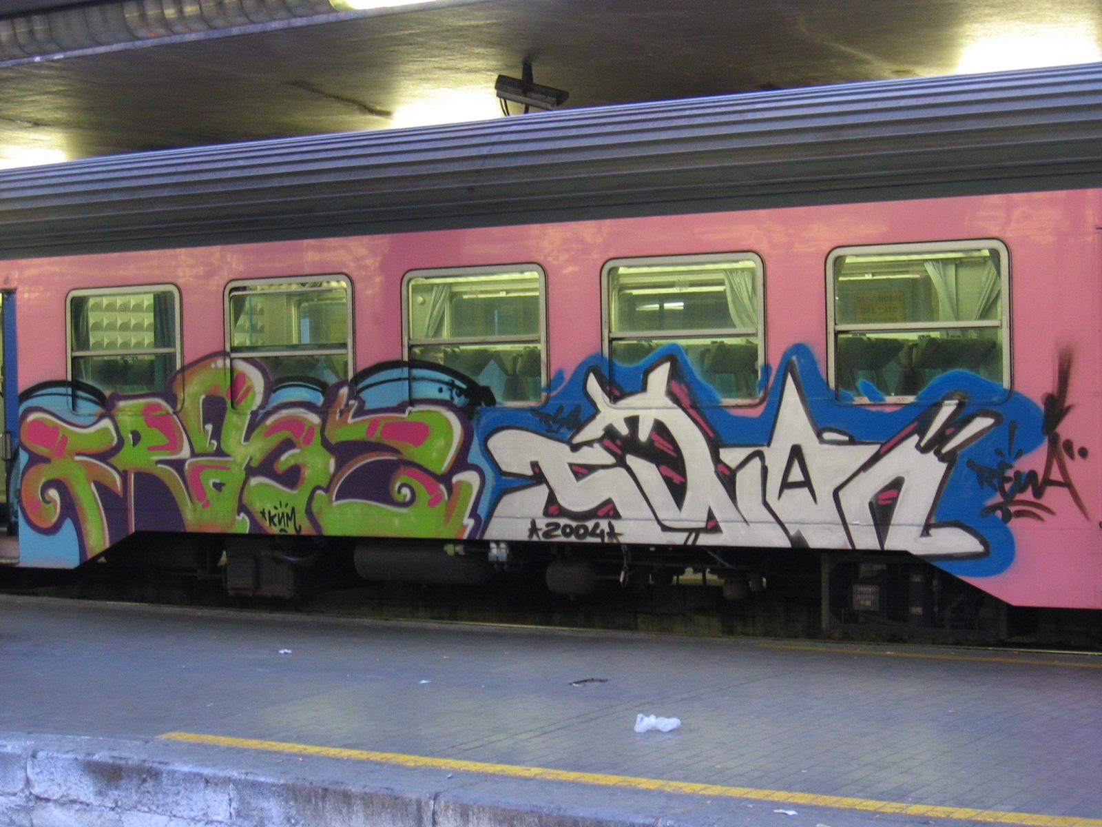30 Beautiful Graffiti Train Inspirations