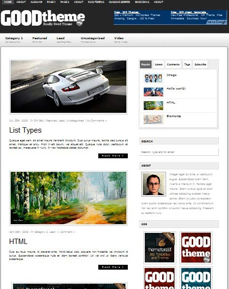 GoodThemeLead 101 free premium wordpress themes