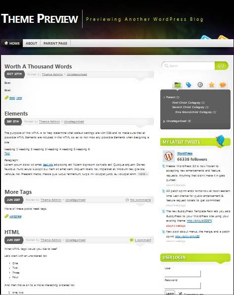 101 free premium wordpress themes