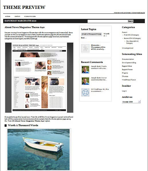 NewsMagazineTheme640 101 free premium wordpress themes