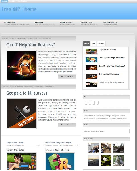 Sensor 101 free premium wordpress themes