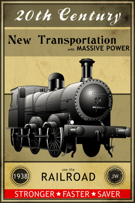 SteamTrain by MagicalViper 433x650 Old Advertisements And Ad Inspirations