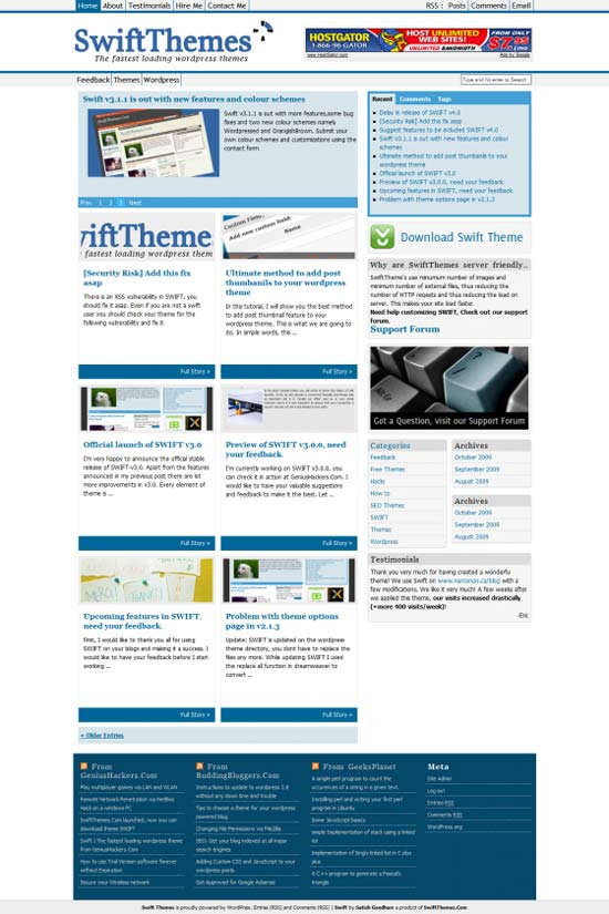 Download Template Blog Wordpress Gratis