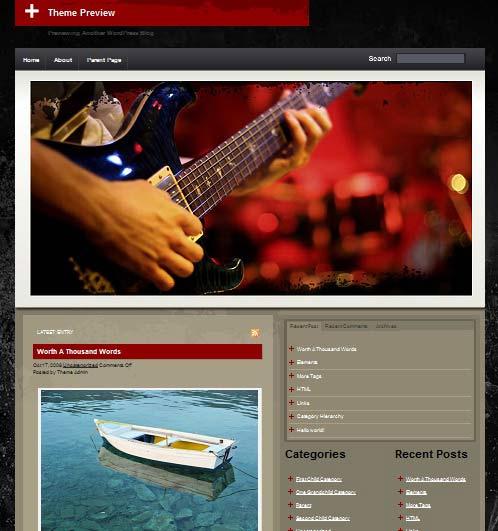 THATMusicTheme 101 free premium wordpress themes