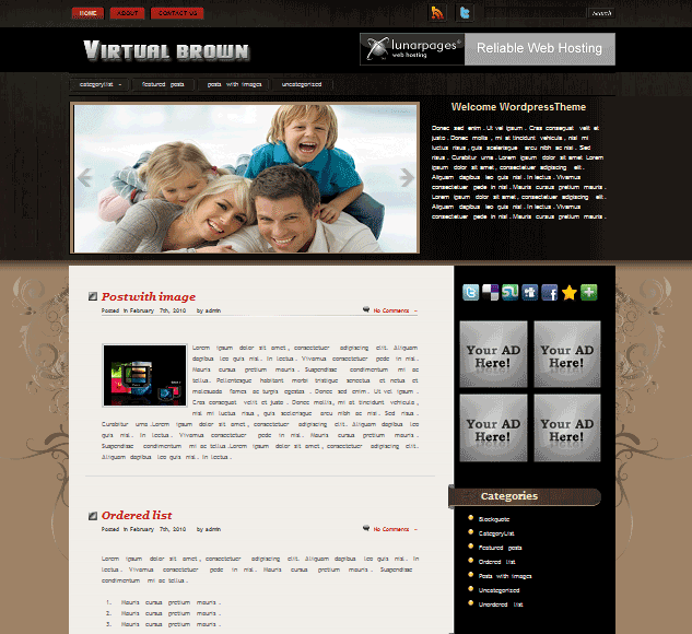 Virtualbrown 101 free premium wordpress themes