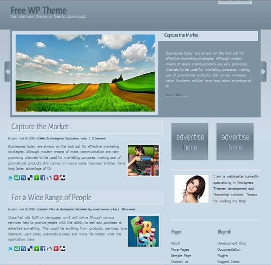 blueguess 101 free premium wordpress themes