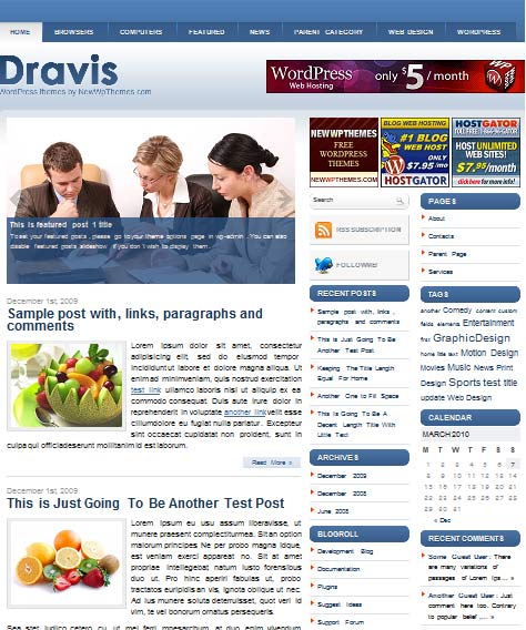 dravis 101 free premium wordpress themes