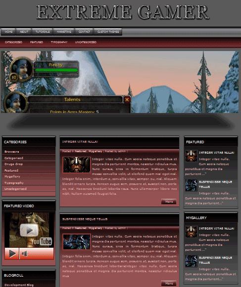 extremegamer 101 free premium wordpress themes