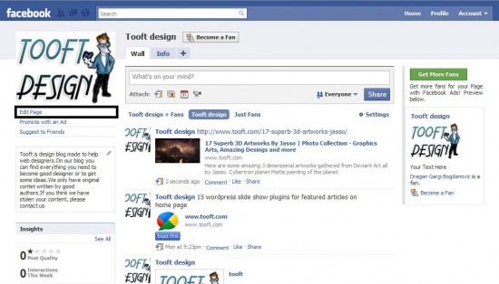How to show a facebook fans box in wordpress sidebar