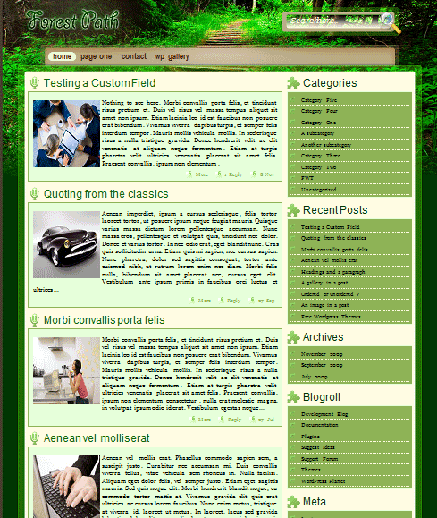 forestpath 101 free premium wordpress themes