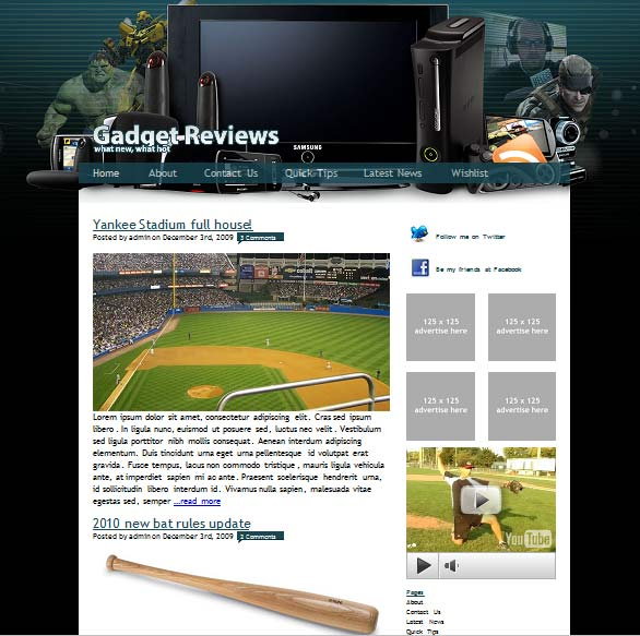 gadgetreviews 101 free premium wordpress themes