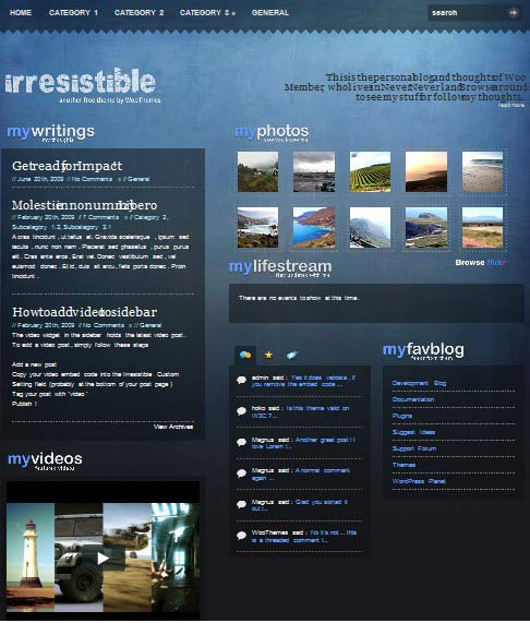 irresistible 101 free premium wordpress themes