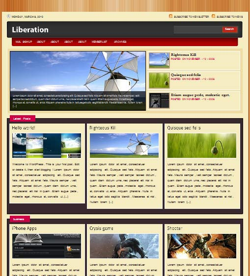 leberation 101 free premium wordpress themes