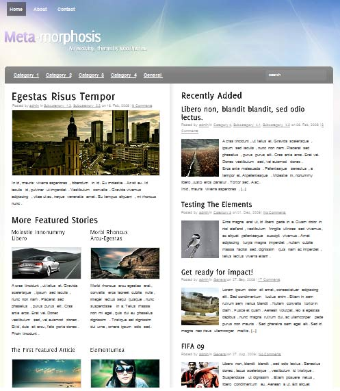meta morphosis 101 free premium wordpress themes