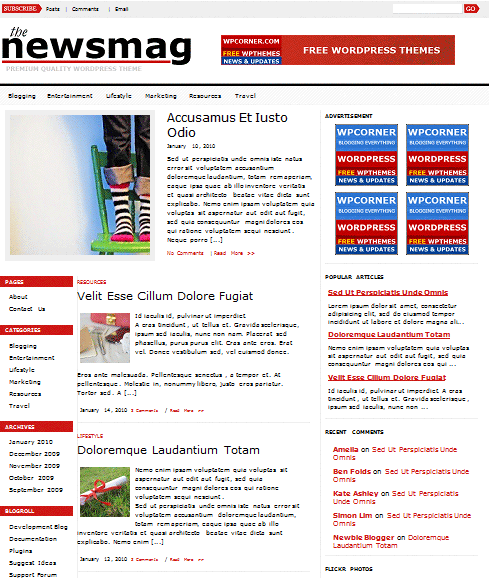 newsmag 101 free premium wordpress themes