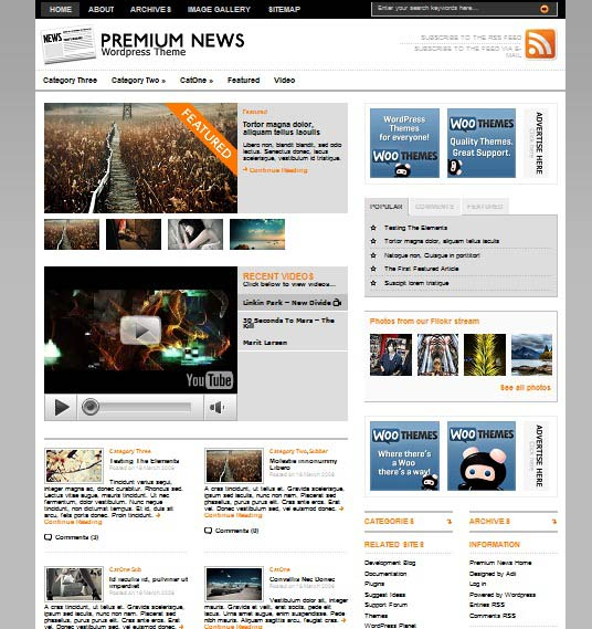 premiumnews 101 free premium wordpress themes