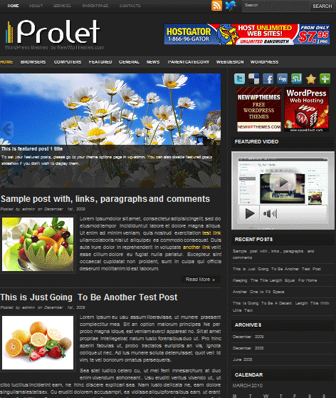 prolet 101 free premium wordpress themes
