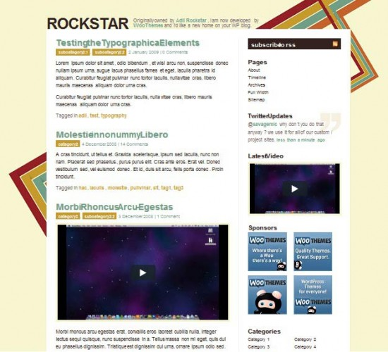 rockstar 550x500 101 free premium wordpress themes