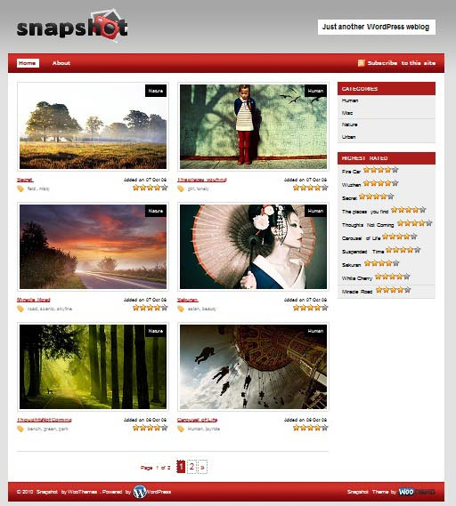 snapshot 101 free premium wordpress themes