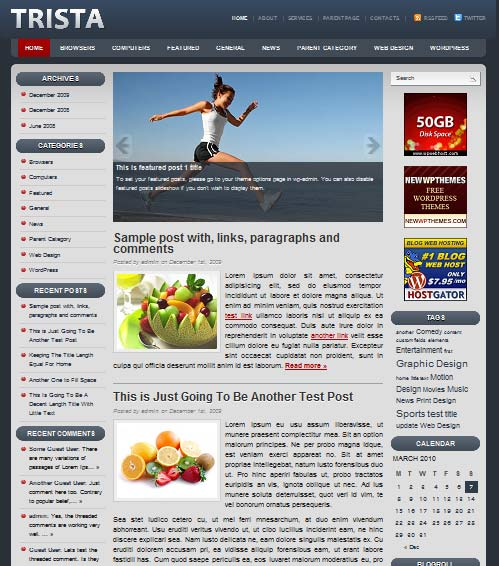 trista 101 free premium wordpress themes