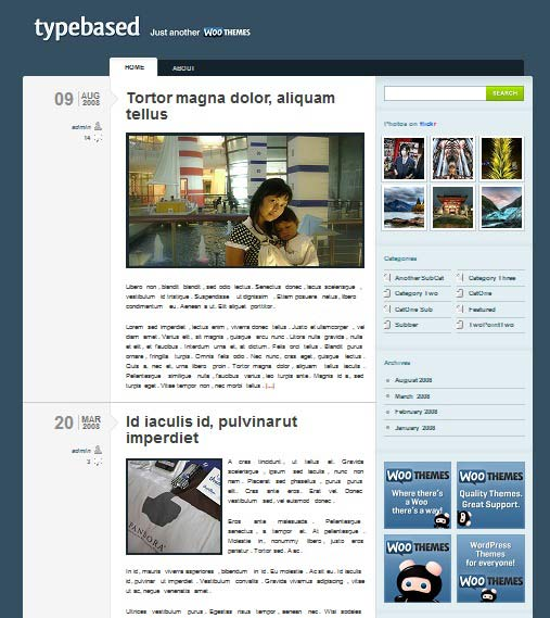 typebased 101 free premium wordpress themes