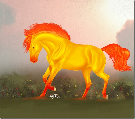 50f465a628b2c4b2d3032d11d9081e3d thumb 40 Beautiful Digital Painted Horses