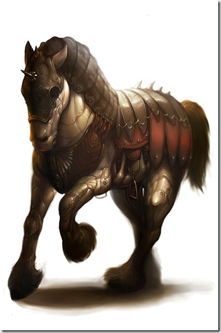 Adamantine Horse of Xarn by nanya thumb 40 Beautiful Digital Painted Horses