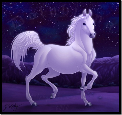 Arabian Horse by dolphy thumb 40 Beautiful Digital Painted Horses