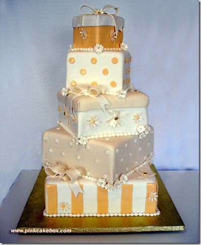 Gift Box Wedding Cake by pinkcakebox thumb 100 Amazing Examples Of Art You Can Eat