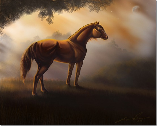 Horse Autum by yellochevy02 thumb 40 Beautiful Digital Painted Horses