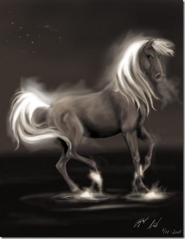 Horse   by aralinwen thumb 40 Beautiful Digital Painted Horses