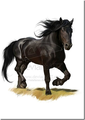 Horse by Heteferes thumb 40 Beautiful Digital Painted Horses