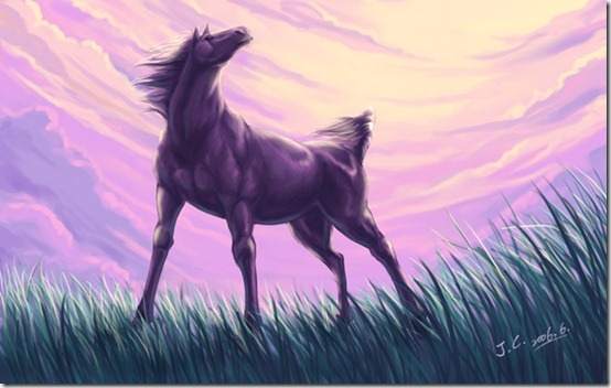 Horse by J C thumb 40 Beautiful Digital Painted Horses