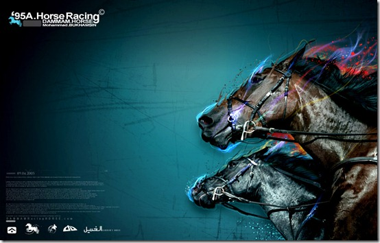 Horse by fudexdesign thumb 40 Beautiful Digital Painted Horses