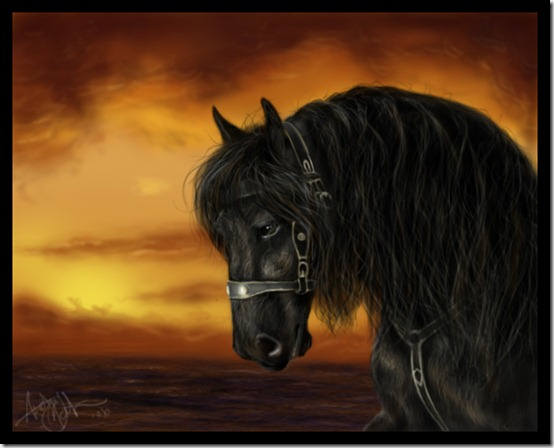 Horse realism attempt by crypticFallon thumb 40 Beautiful Digital Painted Horses