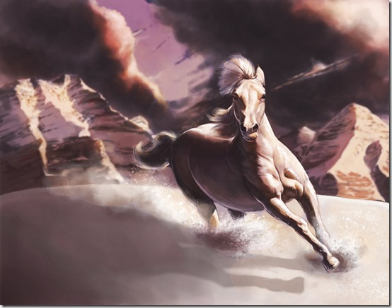 Mountain Horse by Rhineville thumb 40 Beautiful Digital Painted Horses