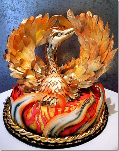 Out of ashes Phoenix will rise by sweetasanut thumb1 100 Amazing Examples Of Art You Can Eat