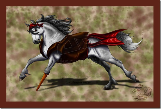 Pirate Horse by WSTopDeck thumb 40 Beautiful Digital Painted Horses