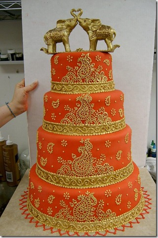 Red Indian wedding cake by The EvIl Plankton thumb 100 Amazing Examples Of Art You Can Eat
