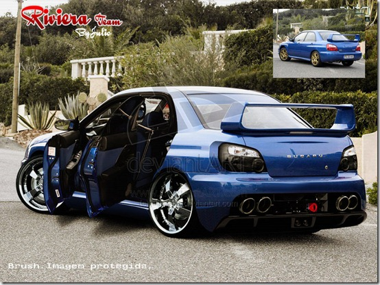 Subaru impreza Tuning by julioleite thumb 50 Great Examples of Car Tuning In PhotoShop