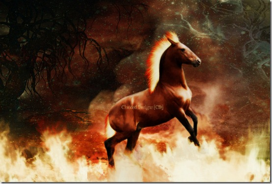 The Fire Horse by BanishedAngel thumb 40 Beautiful Digital Painted Horses