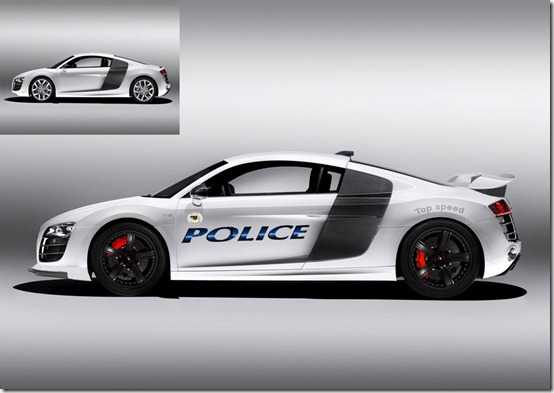 Virtual Tuning  R8 Police by Warbaaz1411 thumb 50 Great Examples of Car Tuning In PhotoShop