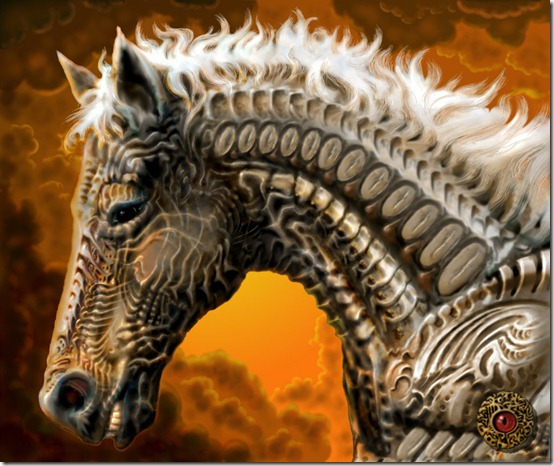 War Horse by savageworlds thumb 40 Beautiful Digital Painted Horses