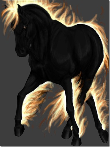Xynyr  Demon Horse by zsarke thumb 40 Beautiful Digital Painted Horses
