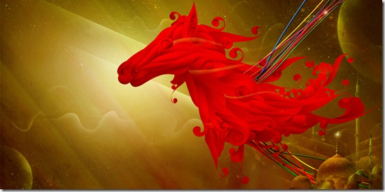 a horse     by theuukz thumb 40 Beautiful Digital Painted Horses